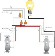 wiring diagram for two switches to control one receptacle rh pinterest com wiring two light switches in one box diagram Light Switch Wiring Diagram
