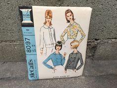 60's McCall's 8097 Pattern Misses' Bouse Set - Size 18 Bust 38 FF by ElkHugsVintage on Etsy