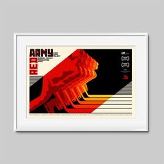 Poster designed for the documentary focusing on the Soviet Union during the height of the Cold War, and the nation's famed Red Army hockey team.