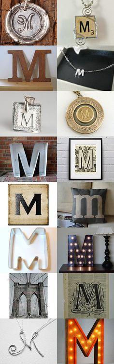 Scrabble letter M pendant