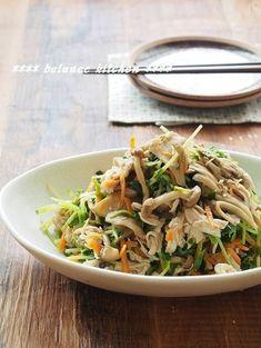 Moist and sesame mushroom dresserada Tofu Recipes, Asian Recipes, Cooking Recipes, Ethnic Recipes, Japchae, Stuffed Mushrooms, Food And Drink, Veggies, Yummy Food