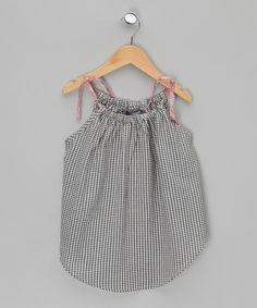This Grey & White Check Strappy Top by Lovebugs is perfect! #zulilyfinds