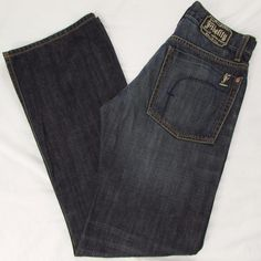 Men Fidelity Camino Jeans Distressed Relaxed Boot Cut Low Rise sz 29 X 34 USA #Fidelity #RelaxedBootCut