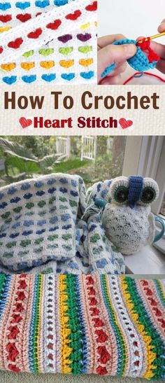How To #Crochet The #Heart #Stitch (video tutorial)