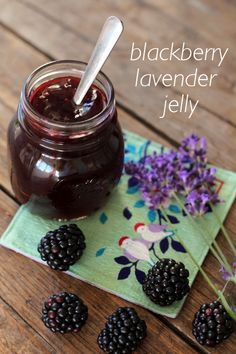 Blackberry and lavender jam