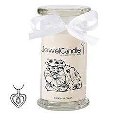 jewelcandle bougie parfumée cookies & cream