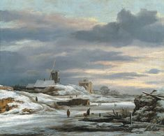 Winter scene with mill, Jacob van Ruisdael, private collection