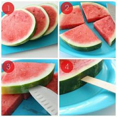 Watermelon popsicle sticks More