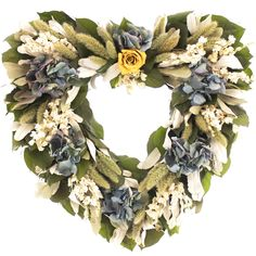 $49.  16 inch.  Lark Manor Colchique Heart Wreath