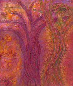 kunstenaar: Betty Nijenhuis. Op dit schilderij zijn twee bomen te zien die vlam vatten. Ik heb dit schilderij bij dit thema uitgekozen omdat ik dit wel bij het thema vond passen. Het is natuur, maar geen echte natuur. Het is geschilderde natuur, en deze bomen zijn niet helemaal realistisch.