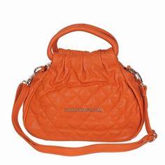 Sweet Peaches Quilted Leather Bag - Orange Quilted Leather, Leather Bag, Studded Handbags, Sweet Peach, Orange Bag, Unique Bags, Peaches, Gym Bag, Link