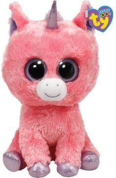 Magic - Pink Unicorn Large - Beanie Boos  ) Ty Beanie Boos ee71ecf93558