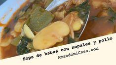 Deliciosa sopa ideal para calentar el cuerpo y apapachar el alma. Te invito a probarla en este otoño e invierno. Para mas detalles y los ingredientes click en visitar. Bean Soup, Mexican Food Recipes, Chicken Recipes, Cabbage, Vegetables, Prickly Pear Cactus, Winter, Mexican Recipes, Cabbages