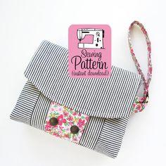 Aster Wristlet PDF Sewing Pattern | Wristlet Clutch Purse Pattern PDF | Bag…