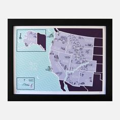 The West American Atlas Print, $24.75, now featured on Fab.