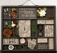 The Hens Den: 7 Gypsies tray by Carolyn Lontin Featuring: Graphic 45 Kraft Reflections Collection