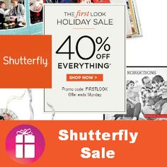 Love this 40% off EVERYTHING coupon code at Shutterfly - perfect for ordering a few gifts I need (ends Oct. 28) 40% OFF http://freebies4mom.com/40off/