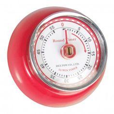 Vintage Magnetic Kitchen Timer Red  ,,Retro Kitchen,, | dotcomgiftshop