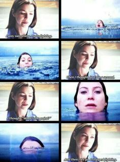 I stopped fighting - Meredith Grey
