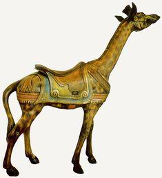Early Dentzel giraffe. c. 1890's.