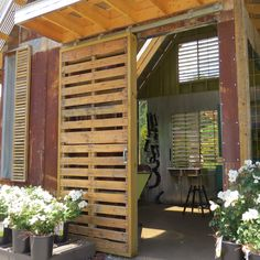 door made from pallets