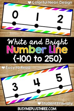 Are you looking for a number line for your classroom wall? This bright neon and white number line will be perfect! This would be great for any math classroom or even math stations. Neon Classroom Decor, Classroom Walls, Math Classroom, Future Classroom, Classroom Themes, Classroom Organization, Classroom Resources, Classroom Management, Math Resources