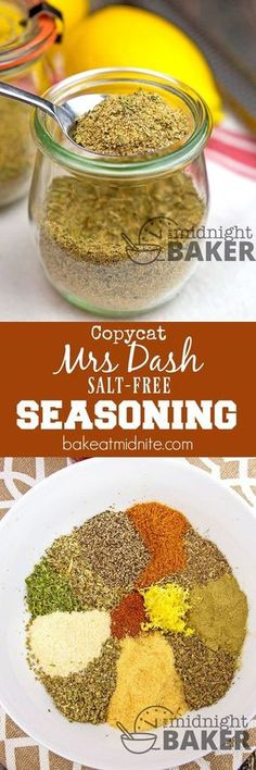 Here's a homemade version of Mrs. If you're looking for a salt-free seasoning, look no further! Here's a homemade version of Mrs. If you're looking for a salt-free seasoning, look no further! Mrs Dash Seasoning, Salt Free Seasoning, Seasoning Mixes, Seafood Seasoning, Low Salt Recipes, Low Sodium Recipes, Cooking Recipes, Smoker Recipes, Rib Recipes