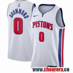 98ea9cb6c Men s Nike Detroit Pistons  0 Andre Drummond White NBA Swingman Association  Edition Jersey