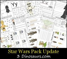 Free Star Wars Pack Update - Star Wars Printables - Ideas of Star Wars Printables - Free Star Wars Pack Update for ages 5 to 8 lots of math and Langauge Activities For Boys, Camping Activities, Camping Crafts, Preschool Activities, Pirate Preschool, Star Wars Classroom, Star Wars Prints, Star Wars Birthday, Crafts For Boys