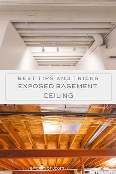 Are you thinking about panting your basement ceiling or leaving the ceiling exposed? Learn some of the important considerations to painting an unfinished basement ceiling! Unfinished Basement Ceiling, Open Basement, Basement Office, Basement House, Basement Bedrooms, Unfinished Basements, Basement Finishing, Basement Bars, Finish Basement Ceiling