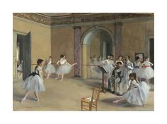 Edgar Degas, The Dance Foyer of the Opera at Rue Le Peletier,1872
