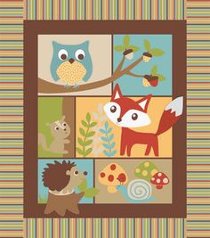 Great for woodland baby theme, can't believe I found this at Jo-Ann Fabrics!