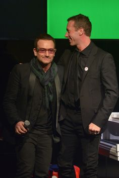 Bono from U2 and Chris Martin from Coldplay at Jony & Marc's (RED) Auction  Sotheby's New York City November 23, 2013   #u2NewsActualite #u2NewsActualitePinterest #u2 #bono #PaulHewson #red #picture #2013 #new #news #actualite   http://popbonobuzzbaby.tumblr.com/post/67914073835/bono-and-chris-martin-at-jony-marcs-red