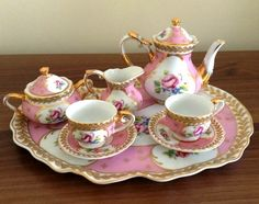 Reutter Porzellan (Germany) —  Regal Miniature Porcelain 9 Piece Tea Set  (860x679)