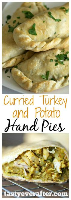 This is such a great way to use up leftover turkey and mashed potatoes from a holiday meal. Homemade dough recipe is included! #tastyeverafter