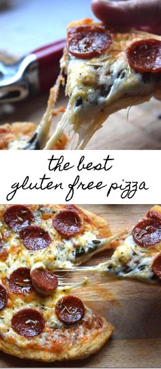 The Best Gluten-Free Pizza- I've tried a lot of pizza's in my day, and this one really ranks up there! This has the best of both worlds for me in a pizza – a crispy crust, but still a bit of a chew in the middle. Bob's Red Mill Gf Recipes, Gluten Free Recipes, Pizza Recipes, Dinner Recipes, Gluten Free Pizza, Gluten Free Baking, Dairy Free, Cornmeal Pizza Crust, No Rise Pizza Dough