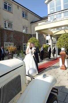 April and Daniel arriving at the Ashdown Park.