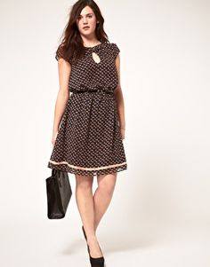 ASOS CURVE Exclusive Dress In Elephant Print