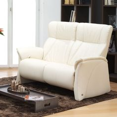 Himolla Lune 2 Seater Sofa Which Can Be Fixed Or Reclining Contemporary Lounge