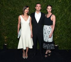 (L-R) Stylist Samantha Traina, Max Snow and Vanessa Traina attend the Chanel Tribeca Film Festival Artist Dinner during the 2014 Tribeca Film Festival at Balthazar on April 22, 2014 in New York City.