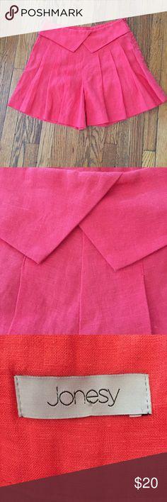 Jonesy Red Linen Shorts Skirt Skort, size small Jonesy Red Linen Shorts Skirt Skort, size small. Size zip. Excellent condition. Jonesy Shorts Skorts