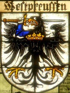 Glasmalerei  Wappenschild der Provinz: Westpreußen .