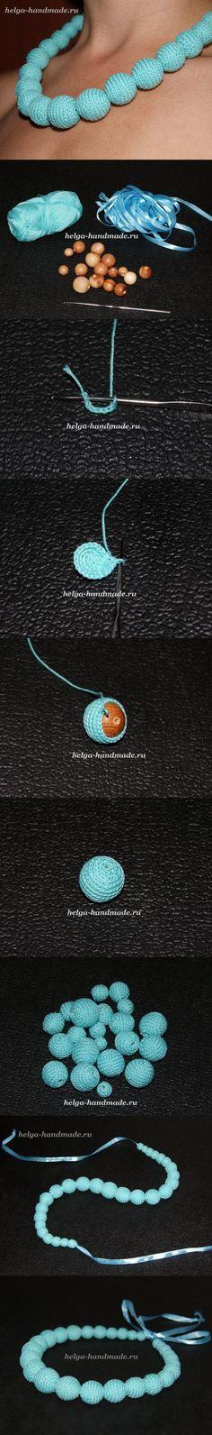 DIY Blue Knitting Beads Collar diy craft crafts easy crafts diy crafts easy diy diy jewelry craft jewelry craft fashion teen crafts crafts for teens Crochet Diy, Bead Crochet, Beaded Jewelry, Handmade Jewelry, Beaded Necklace, Gold Jewelry, Crochet Bracelet, Crochet Earrings, Crochet Patron