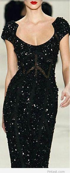Amazing long black dress for 2014