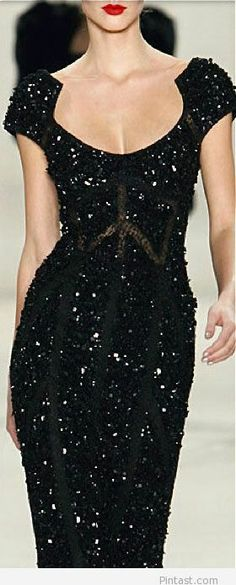Amazing long black dress for 2014