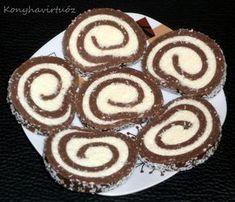 Konyhavirtuóz: Grízes kókusztekercs No Salt Recipes, Sweet Recipes, Sweet Desserts, Dessert Recipes, European Cuisine, Hungarian Recipes, Cake Cookies, Fudge, Food And Drink