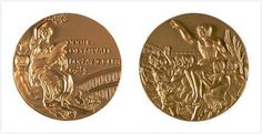 Los Angeles, California, United States 1984 Summer Olympics Medals.  The medals return to Cassioli's design but were also worked on by American illustrator Dugald Stermer.