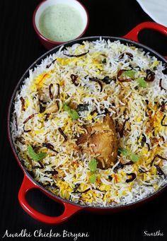 Veg Recipes, Curry Recipes, Indian Food Recipes, Chicken Recipes, Cooking Recipes, Healthy Recipes, Ethnic Recipes, Indian Snacks, Chicken Byriani Recipe