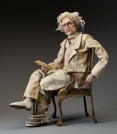 Mark Twain by Nancy Wiley. Really nice touch of this feisty genius.