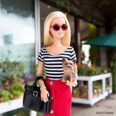 Letting Ms. Honey pick out this week's blooms!  #barbie #barbiestyle